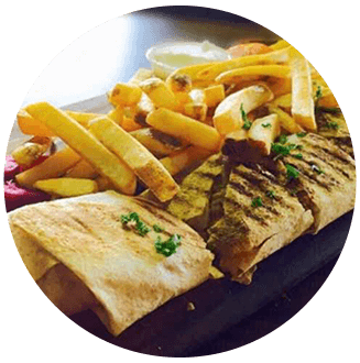 Wrap and fries, Spruce Grove